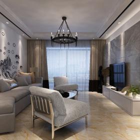 現代簡約式三室三廳案例實景圖