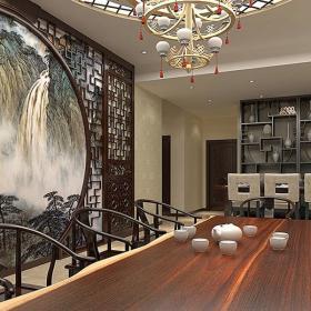 金地褐石公馆小区中式家装风格