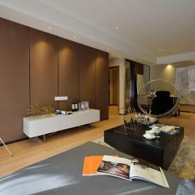 現代簡約三居室裝修樣板間