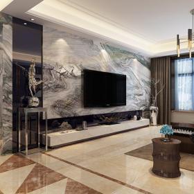 綠地盧浮公館四居室現代簡約風格樣板房裝修設計