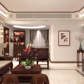 110平現代中式風格樓房裝修效果圖