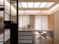 現代簡約風格開放式廚房吧臺吊頂裝修效果圖現代簡約風格吧臺椅圖片