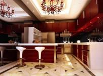 現代風格小型別墅開放式廚房吊頂裝修效果圖現代風格吧臺椅圖片