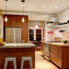 简欧风格农村别墅半开放式厨房吧台装修效果图简欧风格橱柜?#35745;? /></a> <div class=