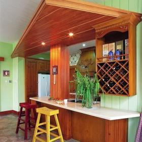 厨房厨房吧台开放式厨房木色吧台装修效果图