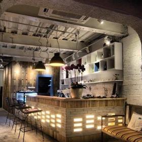 酒柜吧台客厅吧台复古木质吧台装修图片效果图