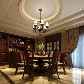 西式古典别墅餐厅吧台装修效果图欣赏