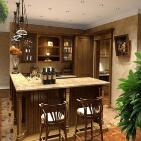台面吧台吧台灯美式吧台椅家庭吧台别致时尚的酒柜吧台设计效果图欣赏