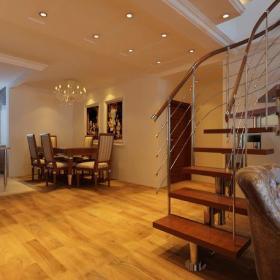 走廊吊頂樓梯復式樓梯簡歐風格過道裝修效果圖