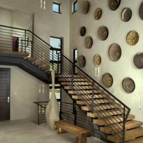 地中海風格客廳2013別墅及藝術家具住宅樓梯設計圖裝修圖片效果圖