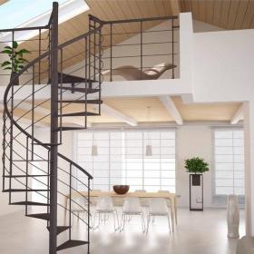 旋轉鐵藝樓梯裝修效果圖