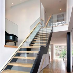 现代简约风格客厅三层独栋别墅时尚别墅楼梯设计效果图