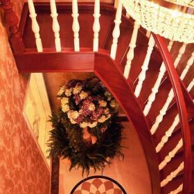 兩層復式270平米室內旋轉樓梯裝修效果圖