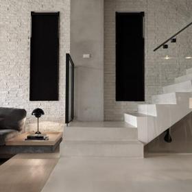 復式樓梯簡約樓梯復式公寓簡潔的過道設計裝修效果圖