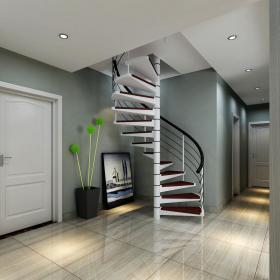 清新現代簡約風復式旋轉樓梯裝修效果圖大全