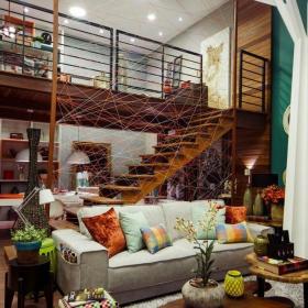 混搭风格室内复式楼梯装修效果图