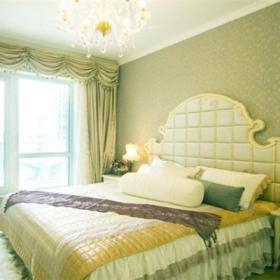 阳台门阳台窗帘门窗帘背景墙壁纸窗帘欧式风格卧室背景墙装修效果图欧式风格床头柜图片
