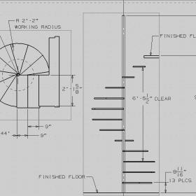 簡單旋轉樓梯平面圖效果圖