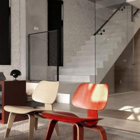 簡約復式公寓復式樓梯簡潔的椅凳圖片裝修效果圖
