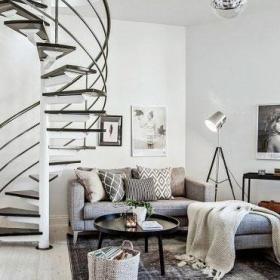 旋轉樓梯實木樓梯腦洞打開的創意樓梯設計效果圖