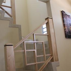復式樓梯扶手效果圖