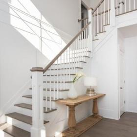 现代欧式风格3层别墅大气别墅楼梯设计图纸效果图