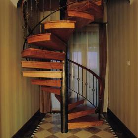 鐵藝樓梯扶手實木樓梯旋轉樓梯扶手樓梯扶手美式風格旋轉樓梯裝修圖片裝修效果圖