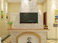 背景墙120㎡隔断三居客厅客厅背景墙欧式田园风格唯美电视背景墙设计效果图欣赏