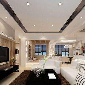 混搭清新田园风格客厅整体装修效果图