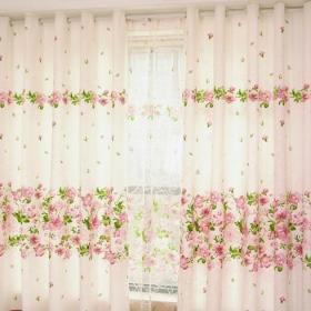 田園客廳窗簾效果圖