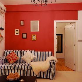 田园沙发背景墙韩式客厅沙发客厅背景墙东家都市实拍图效果图欣赏