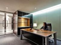 办公楼办公桌椅工装现代简约写字楼宽敞明亮的办公室设计图片效果图大全