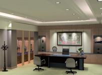 简约中式风格写字楼办公室装修效果图简约中式风格办公桌图片