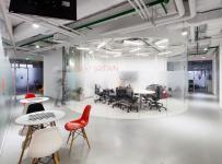 辦公樓簡約工裝辦公室寫字樓簡潔時尚的辦公空間設計效果圖欣賞
