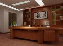 简约中式风格写字楼办公室装修效果图-简约中式风格办公桌图片
