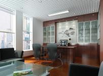 写字楼总经理办公室装修图效果图