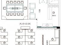大厦写字楼办公室布局图效果图