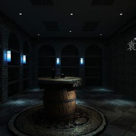 美式地下室別墅地下酒窖裝修效果圖