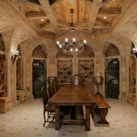 古典美式酒窖设计效果图