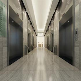 混搭写字楼大堂电梯间效果图