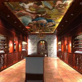 欧式酒窖效果图图片
