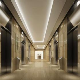 混搭写字楼标准层电梯间效果图