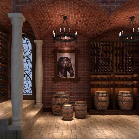 奢华的酒窖装修效果图