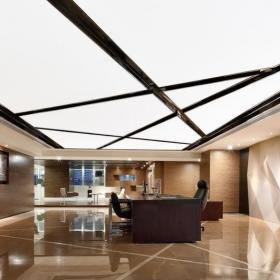 混搭风格写字楼办公室吊顶装修效果图