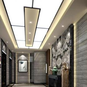 写字楼电梯间装饰设计图片效果图
