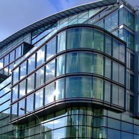 高级写字楼全玻璃幕墙装饰图片效果图