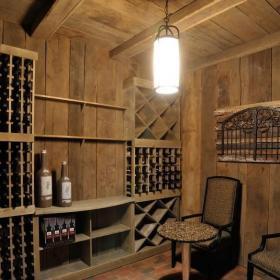 美式别墅装修酒窖效果图
