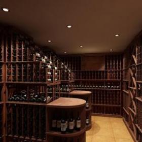 乡村酒窖装修效果图-乡村风格红酒柜图片