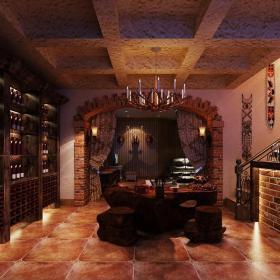 美式地下室酒窖裝修圖效果圖大全