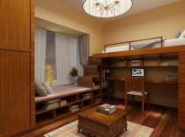组合衣柜地柜榻榻米地台家具组合柜实木家具混搭风格别墅二楼次卧室装修效果图混搭风格吊顶图片